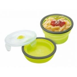 Porta alimentos PLEGABLE e higiénico de silicona 540 ml.