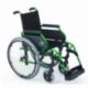 Silla de ruedas Breezy 300 de acero con reposapiés giratorios y desmontables | Color Verde - Foto 1