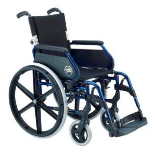Silla de ruedas manual en acero plegable Breezy 250P respaldo partido