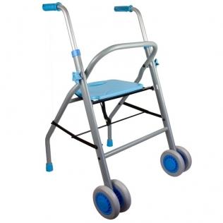 Andador de aluminio y acero ligero deluxe | Ligero y plegable | Con asiento y ruedas | Future | Mobiclinic