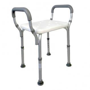 Silla para baño | Aluminio y PVC | Altura regulable | Reposabrazos | Acueducto | Mobiclinic