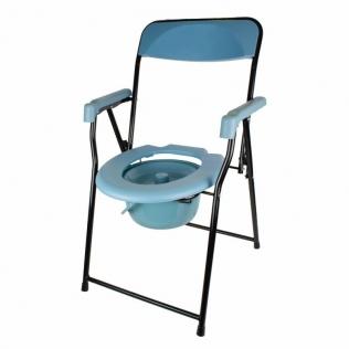 Silla con WC | Plegable | Reposabrazos | Asiento ergonómico | Conteras antideslizates | Timón | Mobiclinic