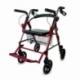 Andador para ancianos | Aluminio | Plegable | Frenos en manetas | Asiento y respaldo | 4 ruedas | Burdeos | Colón | Mobiclinic - Foto 1