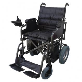 Silla de ruedas eléctrica | Plegable | Acero | Motor | Para discapacitados | Auton. 20 km | 24V | Negro | Cenit | Mobiclinic