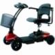 Scooter eléctrico para adultos   4 ruedas   Compacto y desmontable   Auton. 10 km   12V   Rojo   Virgo   Mobiclinic - Foto 1