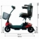 Scooter eléctrico para adultos   4 ruedas   Compacto y desmontable   Auton. 10 km   12V   Rojo   Virgo   Mobiclinic - Foto 11