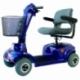 Scooter eléctrico 4 ruedas para minusválidos | Asiento giratorio y plegable | Auton. 34 km | 12V | Azul | Piscis | Mobiclinic - Foto 1