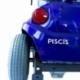 Scooter eléctrico 4 ruedas para minusválidos | Asiento giratorio y plegable | Auton. 34 km | 12V | Azul | Piscis | Mobiclinic - Foto 6