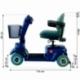 Scooter eléctrico 4 ruedas para minusválidos | Asiento giratorio y plegable | Auton. 34 km | 12V | Azul | Piscis | Mobiclinic - Foto 10