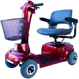 Scooter eléctrico para minusválidos | Asiento giratorio y plegable | Auton. 34 km | 12V | Burdeos | Piscis | Mobiclinic