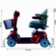 Scooter eléctrico para minusválidos | Asiento giratorio y plegable | Auton. 34 km | 12V | Burdeos | Piscis | Mobiclinic - Foto 8