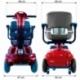 Scooter eléctrico para minusválidos | Asiento giratorio y plegable | Auton. 34 km | 12V | Burdeos | Piscis | Mobiclinic - Foto 10
