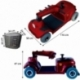 Scooter eléctrico para minusválidos | Asiento giratorio y plegable | Auton. 34 km | 12V | Burdeos | Piscis | Mobiclinic - Foto 12