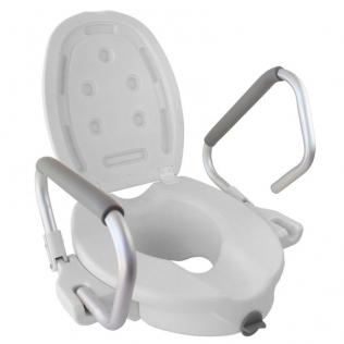Elevador WC | Con tapa | Reposabrazos abatibles | Blanco | Guadiana | Mobiclinic