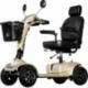 Scooter para ancianos de 4 ruedas neumáticas | Asiento regulable | Toma USB | Asiento Deluxe | Modelo Cruiser| Color champagne - Foto 1