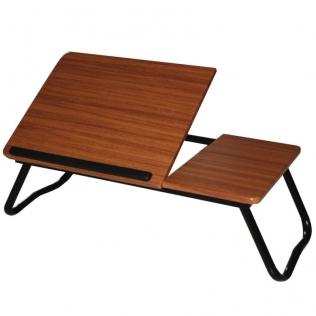 Mesa auxiliar multiusos baja color nogal doble tablero