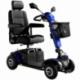 Scooter para ancianos de 4 ruedas neumáticas | Desmontable y transportable | Suspensión integral | Dolce Vita | Azul - Foto 1