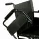 Silla de ruedas plegable de acero 45m con reposabrazos y reposapiés extraíbles regulable en altura - Foto 2