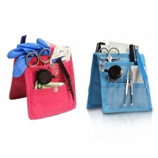 Pack 2 organizadores de enfermería para bata o pijama | Rosa y azul | Keen's | Elite Bags