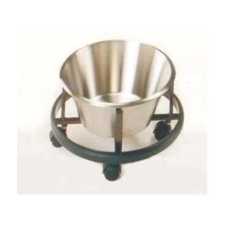 Cubo de quirófano | ac. inox | soporte esmaltado