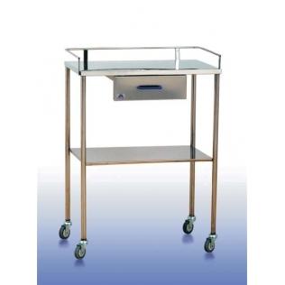 Mesa auxiliar 2 planos, barandilla y cajón