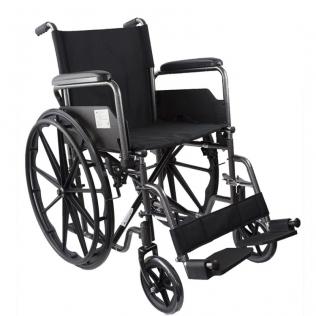Silla de ruedas premium | Plegable | Ruedas traseras grandes extraíbles | Reposapiés y reposabrazos | S220 Sevilla | Mobiclinic