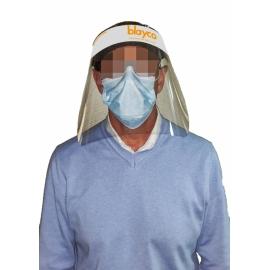 Pantalla de protección facial transparente | Visera protectora para la cara