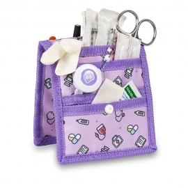 Organizador de enfermería | Para bata o pijama | Estampado morado | Keen's | Elite Bags
