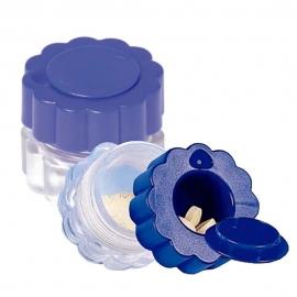 Triturador de pastillas | Con contenedor | Azul y transparente | Mobiclinic