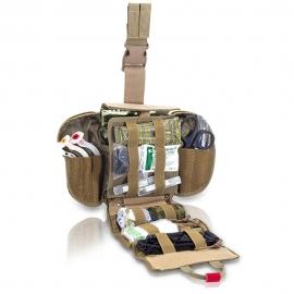 Botiquín paramédico pernera   Botiquín primeros auxilios   Para grandes intervenciones   Color coyote   Quickaid's   Elite Bags