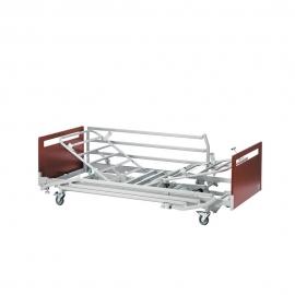 Cama eléctrica | Con cabecero | Barandillas de metal abatibles | 211x90 | Cerezo | Alegio | Invacare