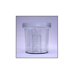 Frasco de lexan para aspirador pórtatil | 1 litro / 2 uds