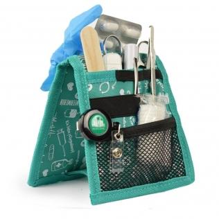 Organizador auxiliar de enfermería | Para bata o pijama | Estampados en verde | Keen's de Mobiclinic | Elite Bags