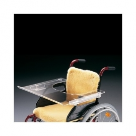 Mesa para silla de ruedas | Transparente | Ajustable