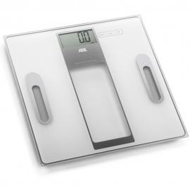 Báscula digital hasta 180kg | Gran capacidad de memoria | Blanco y plata | Tabea | ADE