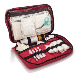 Botiquín primeros auxilios | Bolsa botiquín gran capacidad | Rojo | Heal&Go | Elite Bags