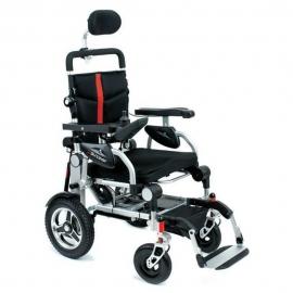 Silla de ruedas eléctrica I-Discover | Plegable | Con 4 ruedas | Aluminio | Color gris