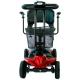 Scooter eléctrico para adultos | Auton. 10 km | 4 ruedas | Compacto y desmontable | 12V | Rojo |Virgo | Mobiclinic - Foto 4
