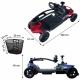 Scooter eléctrico para adultos | Auton. 10 km | 4 ruedas | Compacto y desmontable | 12V | Rojo |Virgo | Mobiclinic - Foto 5