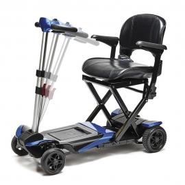 Scooter eléctrico plegable| I-Transformer | Con reposabrazos | Negro y azul | Apex