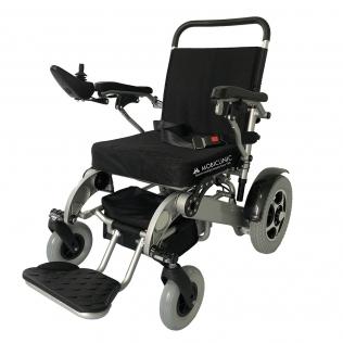 Silla de ruedas eléctrica | Plegable | Auton. 17 km | Aluminio | 24V Ligera | Segura y cómoda| Troya | Mobiclinic