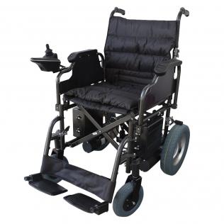 Silla de ruedas eléctrica plegable | Auton. 20 km |Acero | Motor | 24V | Negro | Cenit | Mobiclinic