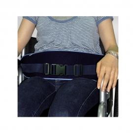 Cinturón de sujeción anterior con cinturón de cierre por presión para silla de ruedas. Contorno: 90-165 cm