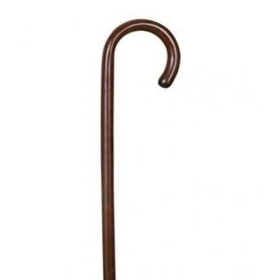Bastón de paseo de castaño marrón de una sola pieza