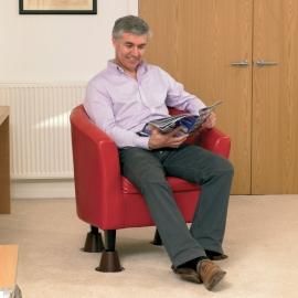 Elevadores cónicos para sillas. Tamaño 15 x 4,5 x 15 cm