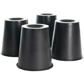 Elevadores cónicos para camas y sillas | 4 uds | 15x7x15 cm | Mobiclinic