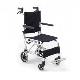 Silla de ruedas Transit | Plegable | Aluminio | Reposapies abatibles | Frenos | Cinturón de seguridad | Apex