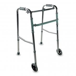 Andador para adultos | Aluminio | Plegable | 2 ruedas | Regulable en altura | Capitel | Mobiclinic