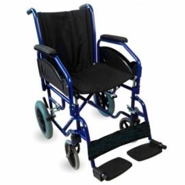 Silla de ruedas de tránsito premium | Plegable | Reposabrazos y reposapiés extraíbles | Maestranza | Mobiclinic