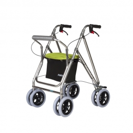 Andador con asiento | Aluminio | Pistacho | Kanguro Plus | FORTA